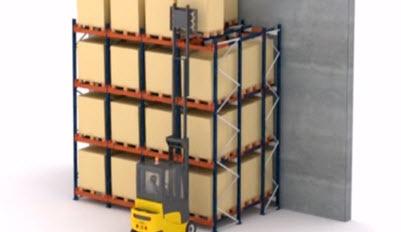 Push-back (Kızaklı) Raf Sistemi
