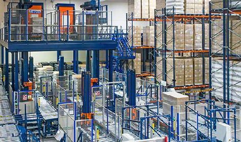 Paletli Ürünler için Konveyör Sistemleri